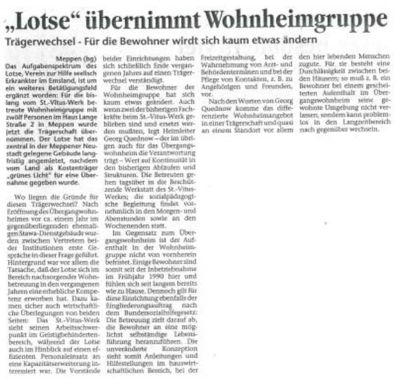Lotse übernimmt Wohnheim